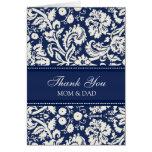 Eltern-Hochzeitstag danken Ihnen korallenroter bla Karte