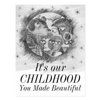 Eltern machen unsere Welten schöne Postkarte
