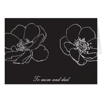 Eltern Mamma und Vati-Hochzeit danken Ihnen Karte