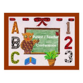Elternteil-/Lehrerkonferenz-Erinnerungspostkarte 3 Postkarte