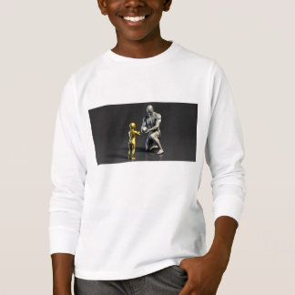Elternteil-unterrichtendes Kind als Konzept in 3D T-Shirt