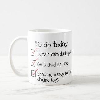 Elternteil, zum der Listen-Tasse zu tun Kaffeetasse