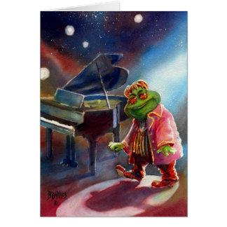 Elton, der Frosch Grußkarte