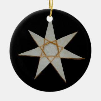 Elven Stern-Verzierung Keramik Ornament