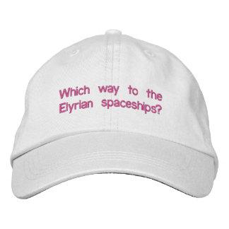 Elyrian Braut-justierbarer Hut Bestickte Kappe