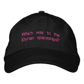 Elyrian Braut-justierbarer Hut Bestickte Caps