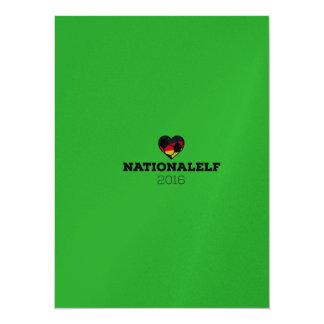 EM Nationalelf 2016 Deutschland 14 X 19,5 Cm Einladungskarte
