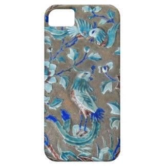 Emaillierter Vogel-Blumen angehobener iPhone 5 Schutzhüllen
