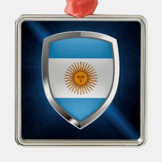 Emblem Argentiniens Mettalic Silbernes Ornament