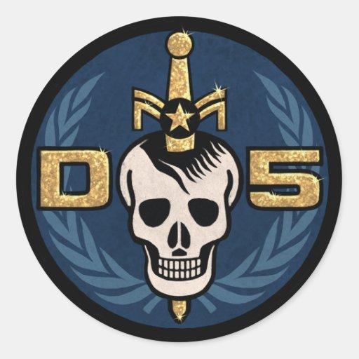 Emblem-Aufkleber-Blatt der Gefahrn5