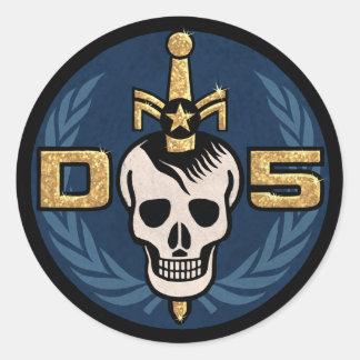 Emblem-Aufkleber-Blatt der Gefahrn5 Runder Aufkleber