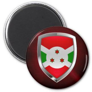 Emblem Burundis Mettalic Runder Magnet 5,7 Cm