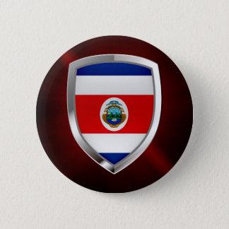 Emblem Costa Ricas Mettalic Runder Button 5,7 Cm