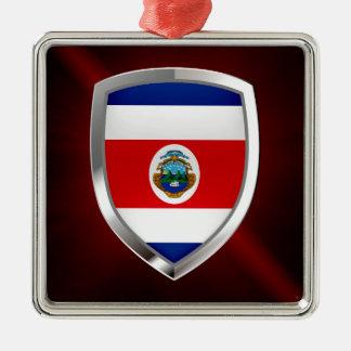 Emblem Costa Ricas Mettalic Silbernes Ornament