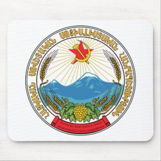 Emblem der armenischen sowjetischen mousepad
