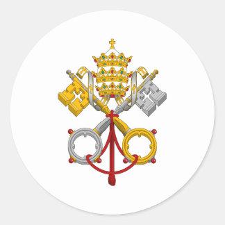 Emblem des Papacy-offiziellen Papstes Symbol Coat Runde Sticker