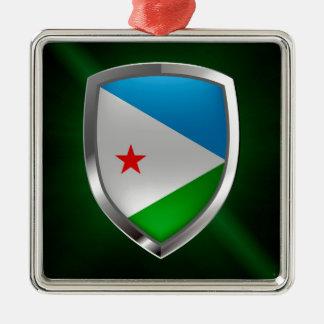 Emblem Dschibutis Mettalic Silbernes Ornament