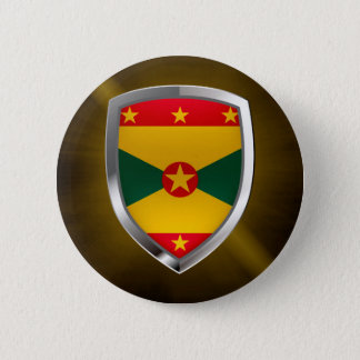 Emblem Grenadas Mettalic Runder Button 5,7 Cm