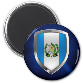 Emblem Guatemalas Mettalic Runder Magnet 5,1 Cm
