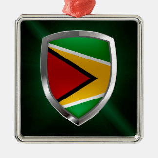 Emblem Guyanas Mettalic Silbernes Ornament