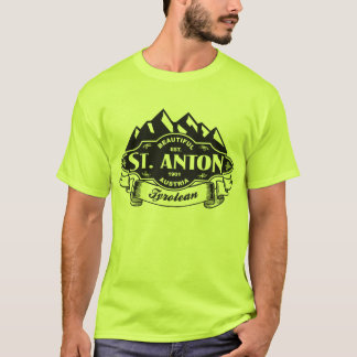 Emblem-Schwarzes St. Anton Gebirgs T-Shirt