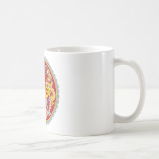 Emblem von Bhutan (རྒྱལ ་ ཡོངས ་ ལས ་ རྟགས ་) Kaffeetasse