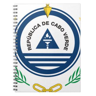 Emblem von Kap-Verde Brasão de Armas de Cabo Verde Spiral Notizblock