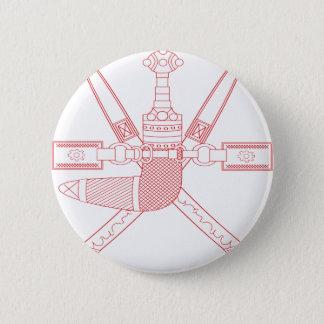 Emblem von Oman - Wappen von Oman Runder Button 5,7 Cm