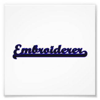 Embroiderer-klassischer Job-Entwurf Fotos