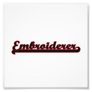 Embroiderer-klassischer Job-Entwurf Kunstfoto