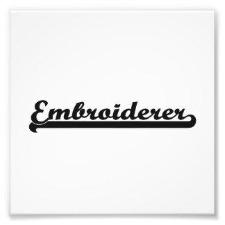 Embroiderer-klassischer Job-Entwurf Foto Drucke