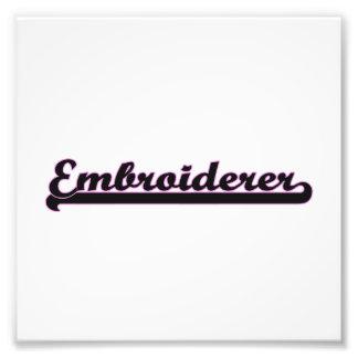 Embroiderer-klassischer Job-Entwurf Photographien