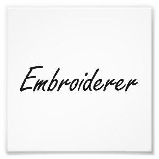 Embroiderer-künstlerischer Job-Entwurf Kunst Photo