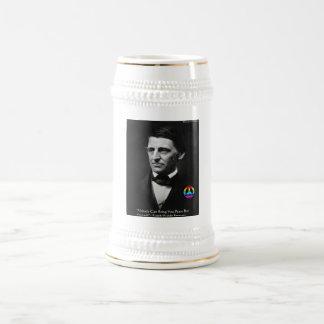"""Emerson """"Frieden ist innerhalb"""" der Bierglas"""
