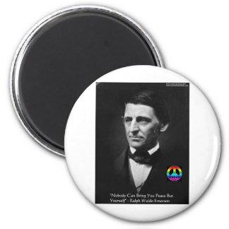 """Emerson """"Frieden ist innerhalb"""" der Runder Magnet 5,1 Cm"""