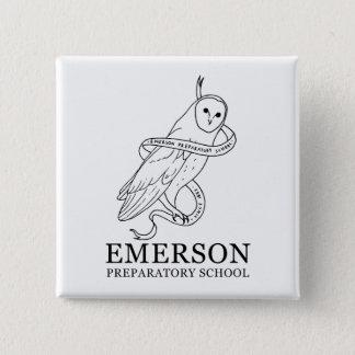 Emerson-Knopf (Eule) Quadratischer Button 5,1 Cm