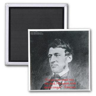 """Emerson """"Kredo der Brief-"""" Quadratischer Magnet"""