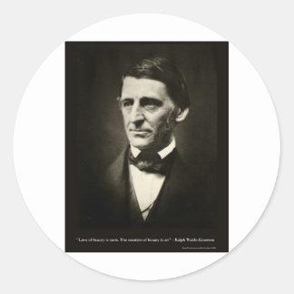 Emerson-Liebe der Schönheit ist Runder Aufkleber