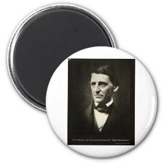 Emerson-Liebe der Schönheit ist Runder Magnet 5,1 Cm