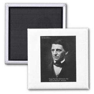 """Emerson""""Schritt von Natur"""" Quadratischer Magnet"""