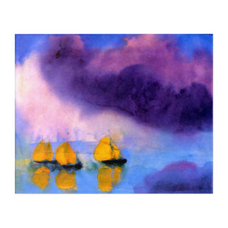Emil Nolde - Meer mit violetten Wolken und Acryldruck