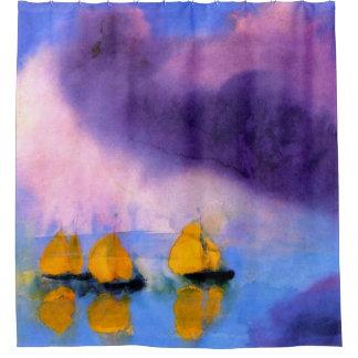 Emil Nolde - Meer mit violetten Wolken und Duschvorhang