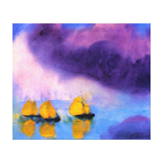 Emil Nolde - Meer mit violetten Wolken und Leinwanddruck