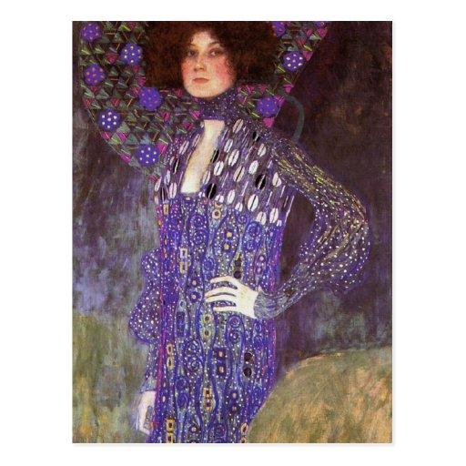 Emilie Floege vorbei: Gustav Klimt Postkarten