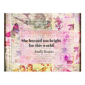 Emily Brontë, Sturmhöhe-Zitat Postkarte