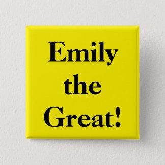 Emily das große quadratischer button 5,1 cm