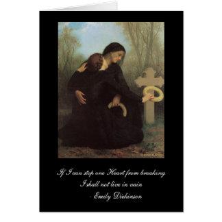 Emily Dickinson - Beileids-Karte Williams Bouguere Grußkarte
