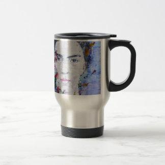 Emily Dickinson - Öl portrait.1 Reisebecher