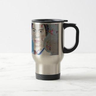 Emily Dickinson - Öl portrait.2 Reisebecher