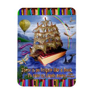 Emily Dickinson-Zitat-Buch-Schiffs-wunderliche Magnet